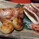 鈴波 - 味比べの金目鯛、イカ、ホタテ