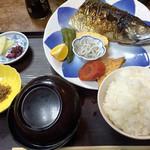 寿し 割烹 十両 - 焼き鯖定食