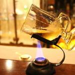 らんぷ - ランプでウイスキーを温める
