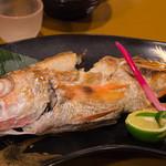 魚処やつはし - 4)のどぐろの塩焼き