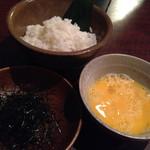 岡崎にこにこ餃子 - 鍋の〆の雑炊セット