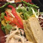 34315302 - 卵焼き、スパサラ、野菜サラダ