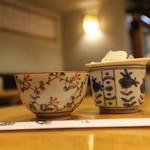 巴町 砂場 - お茶と薬味