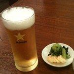 美華飯店 - グラスビール