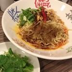 34320169 - マーラー汁なし担担麺 パクチー追加
