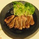 牡蠣三味 - 合鴨のステーキ ゆず