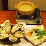 牡蠣三味 - 牡蠣しゃぶ(牡蠣3個)