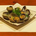 牡蠣三味 - あさりの酒蒸し