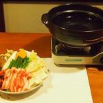 牡蠣三味 - キムチチゲ鍋