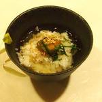 牡蠣三味 - 梅茶漬け