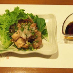 牡蠣三味 - 焼き地鳥おろしポン酢