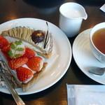 パウンドハウス - ミルクティとケーキ