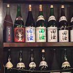 牡蠣三味 - 田酒