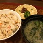 ひろ家 - 炊き込み御飯、味噌汁、香の物 ★★★☆