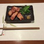 牡蠣三味 - 炙りベーコン