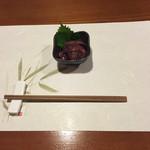 牡蠣三味 - ホタルイカの沖漬け