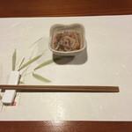 牡蠣三味 - たこわさ