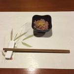 牡蠣三味 - イカの塩辛