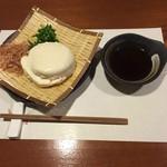 牡蠣三味 - ざる豆腐
