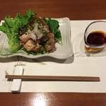 牡蠣三味 - 焼地鷄のポン酢