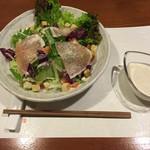 牡蠣三味 - 生ハムのシーザーサラダ