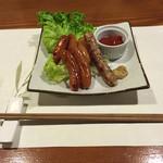 牡蠣三味 - ソーセージの盛り合わせ