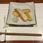 牡蠣三味 - 鮭のハラス焼き
