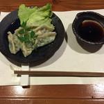 牡蠣三味 - 牡蠣の水餃子