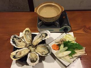牡蠣三味 - 牡蠣しゃぶ