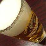蓬莱春飯店 - ビールセット(880円+税)の「生ビール」2015年1月