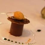 グランシェール 葉山庵 - ツレのデザート チョコレートムース。