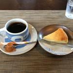千の桜 - ケーキセット チーズケーキ