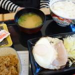 吉野家 - ハムエッグ牛小鉢丼(¥510税込み)