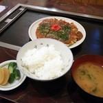 お好み焼 吉 - 関西以外では珍しい、お好み焼き定食。630円