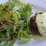 bistro & cafe La ChouChou - メインの自家製ハンバーグ枝豆のポタージュソース