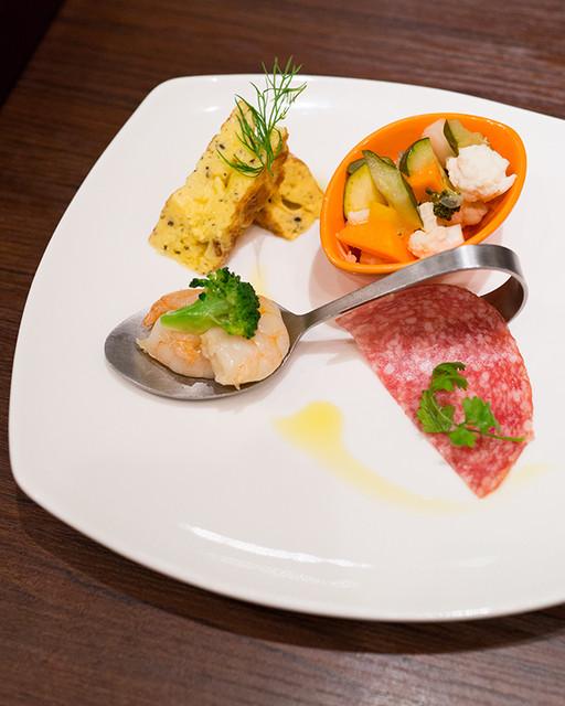 銀座イタリアン ORIGO - 前菜の盛り合わせ(4種)
