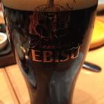 34338582 - こちら黒ビール。飲み進めてくると炭酸がマイルドな黒に限ります。