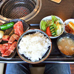 3434727 - 蔵王牛焼肉ランチ(上)(ご飯大盛り)