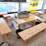 ケンちゃんかき - 今日のお席。