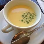 つばめグリル - コースセット460円のとうもろこしのクリームスープ
