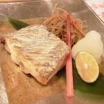 助六 - 焼物 太刀魚塩焼          大根おろし、かぼす、はじかみ、きんぴらごぼう