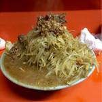 34346380 - 富士丸ラーメン麺半分野菜マシ