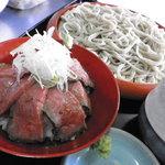 そば善 - 料理写真:黒毛和牛ローストビーフ丼セット