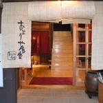あぶりや食堂 - 玄関を入るとすぐに大きな階段がお出迎え致します。
