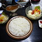 鶴 - 12/09/04 ホタテカレー 大盛 900円 ポテトサラダ350円