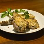 外食家 くじら - ラム肉の香草マスタード焼き