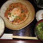 3436103 - 鶏つくね大判焼き温玉のせ定食