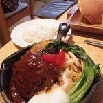 グッドモーニングカフェ - 淡路産牛100% ハンバーグランチ