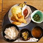 かき船 - カキフライ定食 1,300円