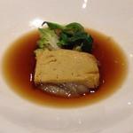 レストラン 香松 - フォアグラのフォンダン コンソメスープに浮かべて